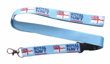 Royal Navy White Ensign Lanyard